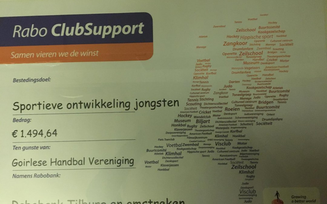 Fenomenale opbrengst Rabobank Clubsupport