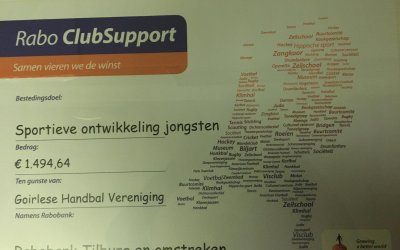 Fenomenale opbrengst Rabobank Clubsupport